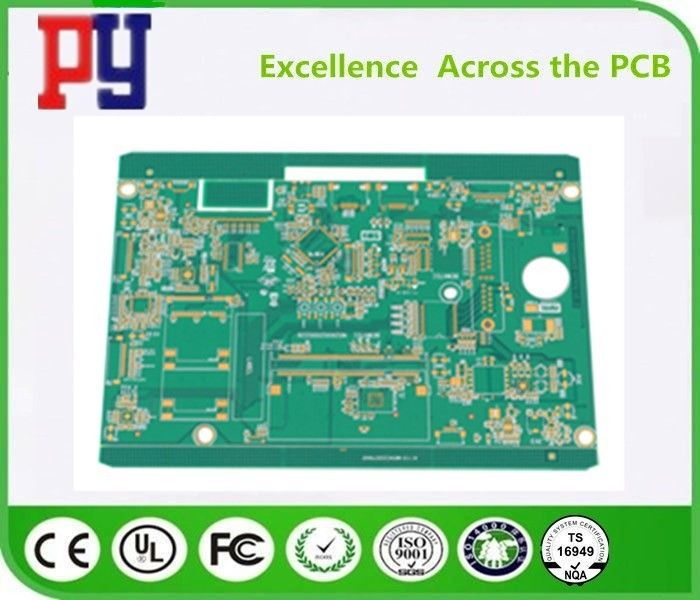 6 Layer PCB Printed Circuit Board Green Solder Mask Fr4 Base 1OZ Copper Thickness